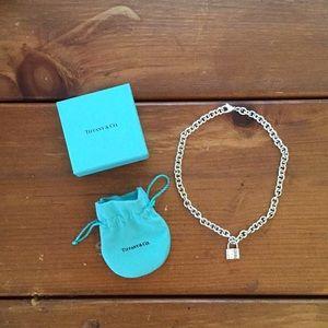 Tiffany & Co 1837 Padlock Charm Necklace